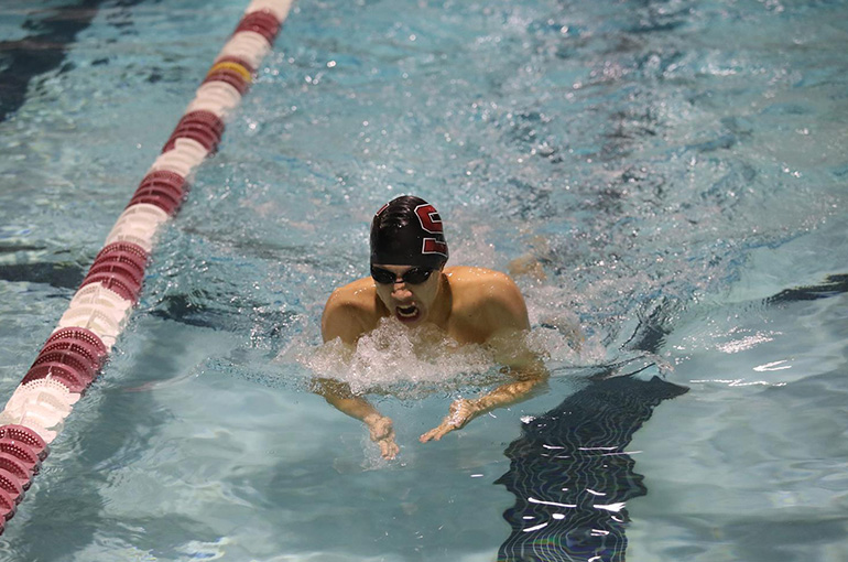 Jeffrey Tse, Men's Swimmer of the Week, 2/4/19