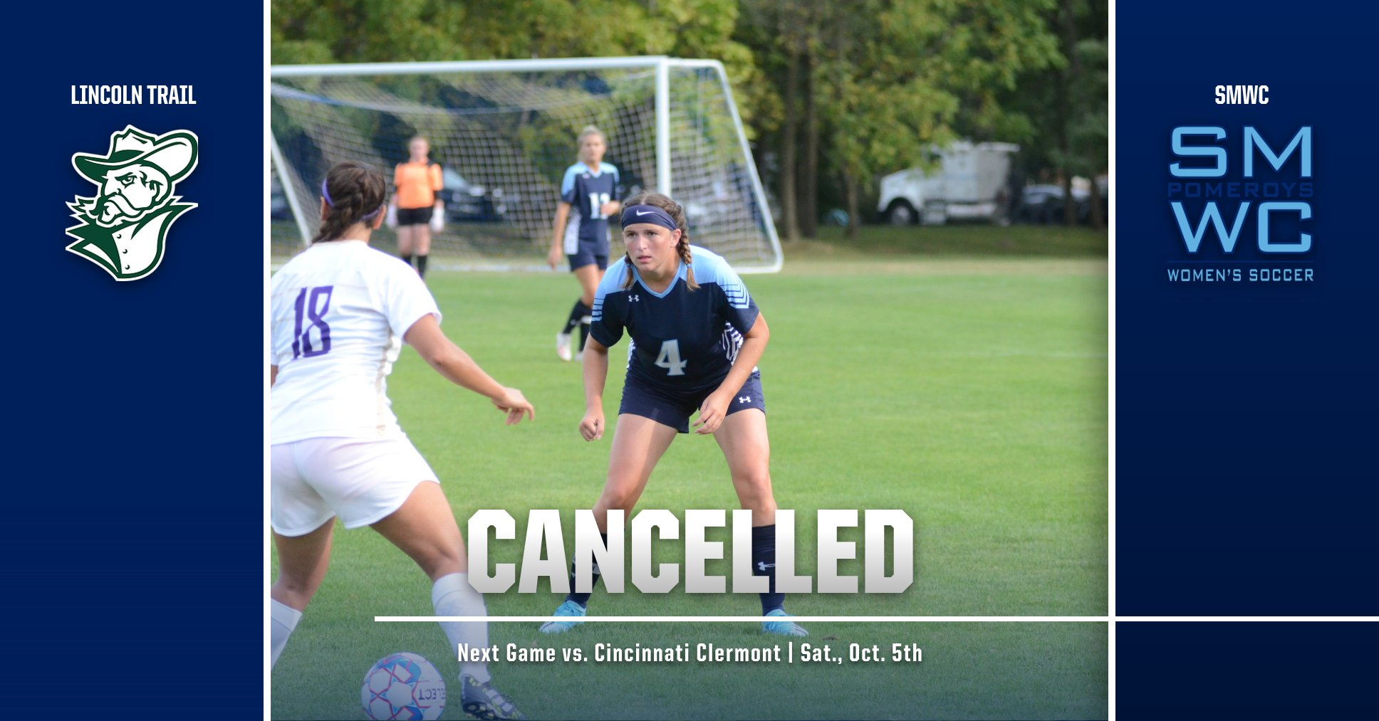 Women's Soccer Match vs. Lincoln Trail College Has Been Cancelled