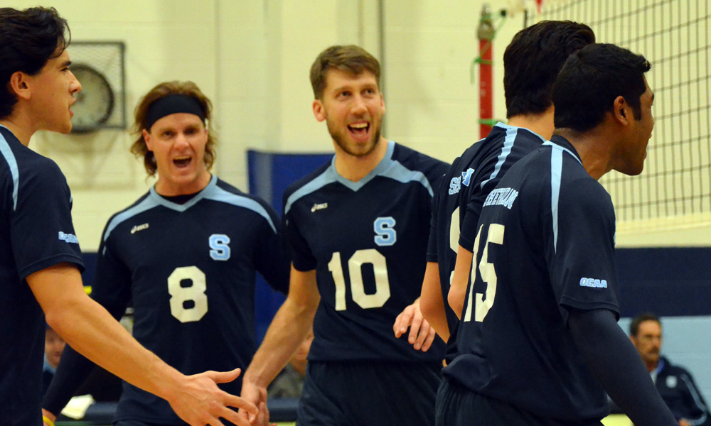 Men's volleyball bounce back with win over St. Clair