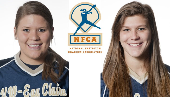 Two Blugold Softball Players Honored by NFCA