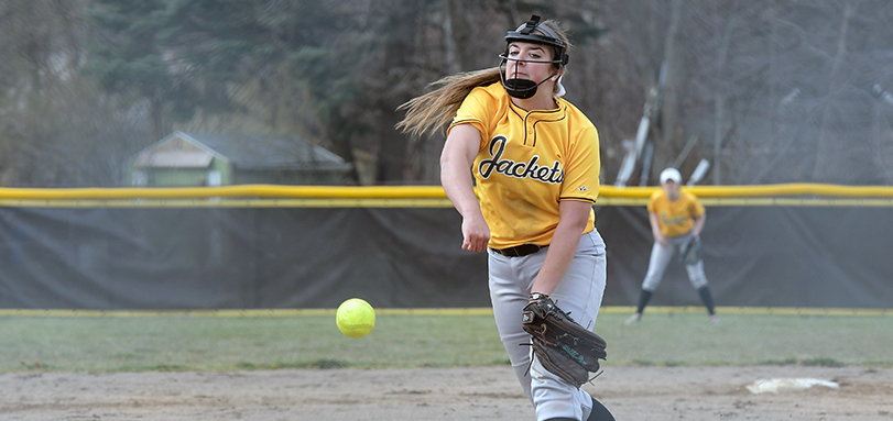 Nikki Turner won her first collegiate game and struck out a career-best five batters