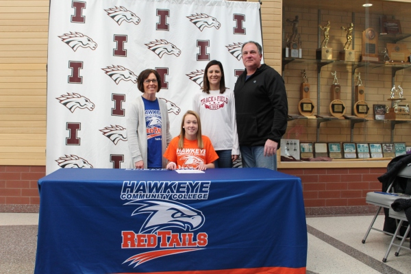 Independence Senior Kaylee Hosch Signs with RedTail Track and Field