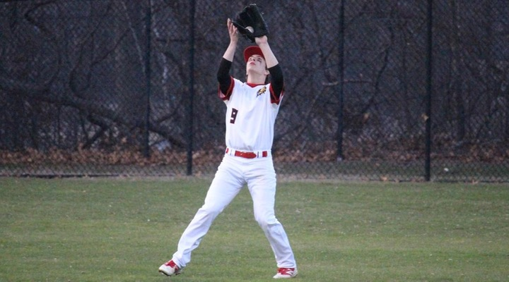 Baseball Rallies Late to Earn 9-9 Tie at Lesley