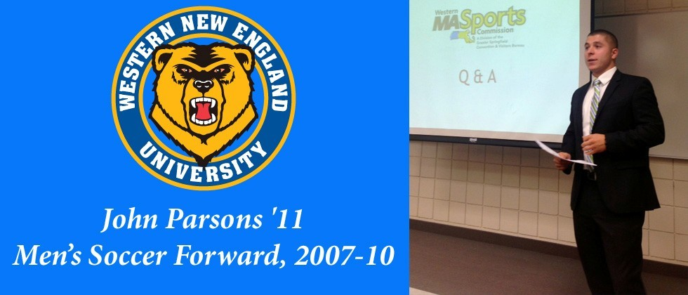 College of Business Sport Management Alumnus John Parsons '11 Speaks at WNE