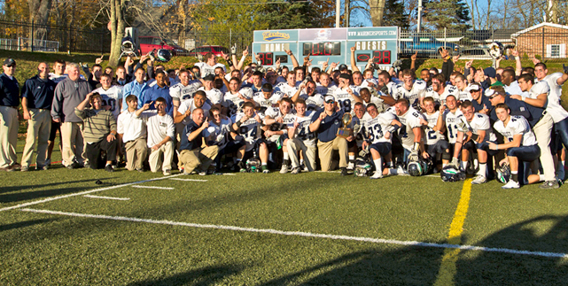 Football rallies for first NEFC Championship and NCAA berth