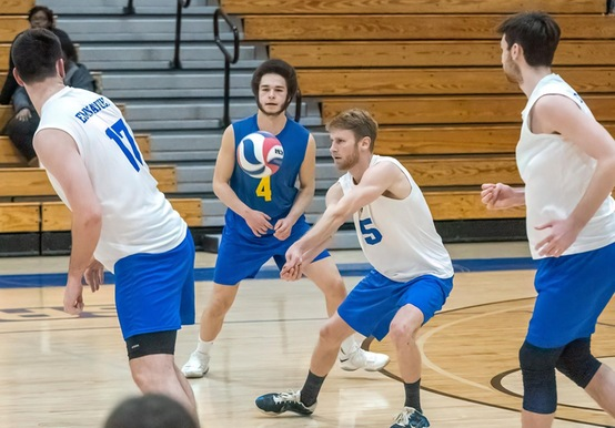 ENGLISH LIFTS MEN'S VOLLEYBALL PAST LASELL IN 3-2 COMEBACK PLAYOFF WIN