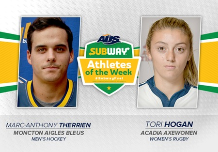 Rugby's Hogan named AUS Athlete of the Week
