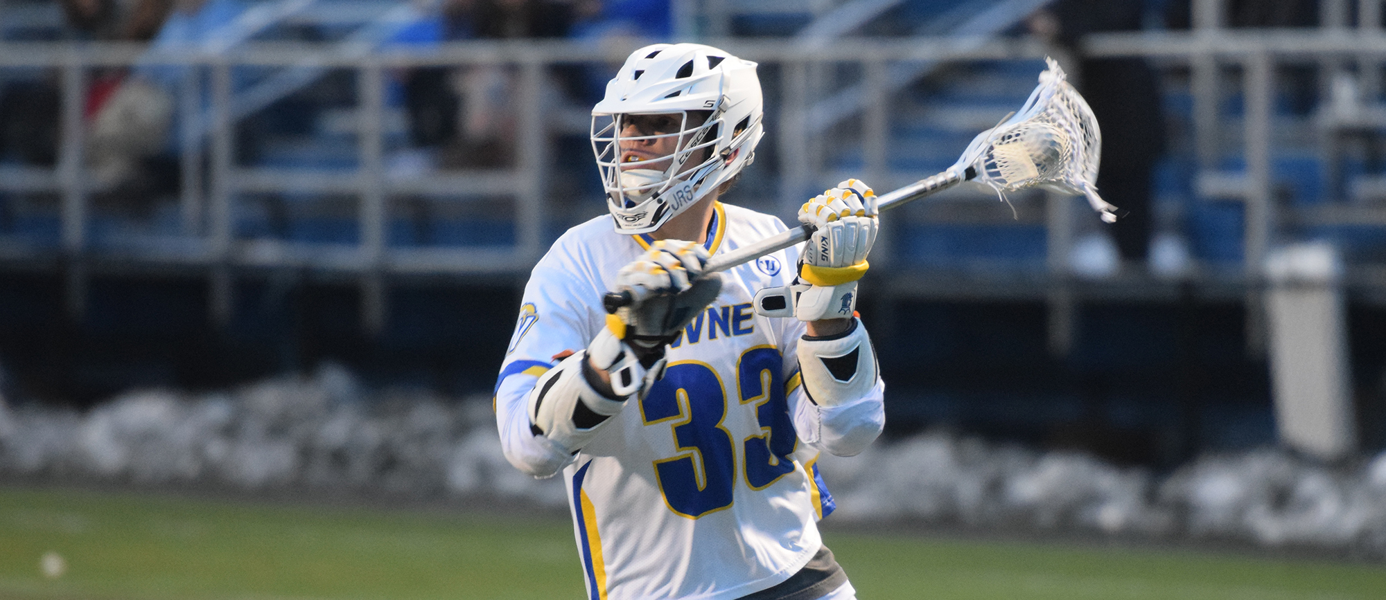 Junior Tim Breau dished out a career-best four assists in Western New England's 15-8 win over Curry on Tuesday night. (Photo by Rachael Margossian)