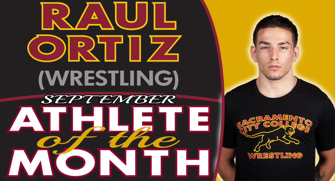 Raul Ortiz named the SCC September Male Athlete of the Month