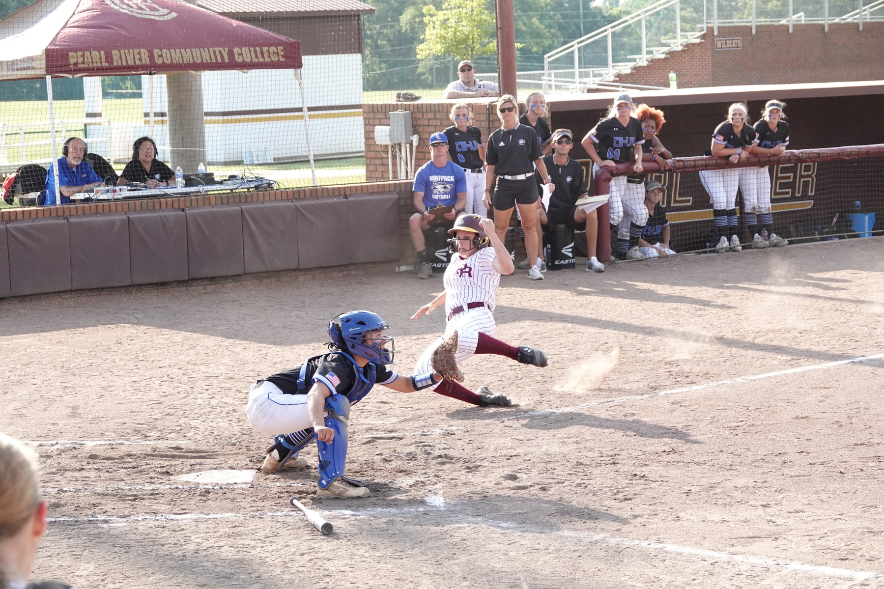 Copiah-Lincoln defeated Pearl River 9-3 in the first elimination game of the Region XXIII Tournament, hosted at PRCC's Lady Wildcat Stadium in Poplarville, Miss. (KRISTI HARRIS/PRCC ATHLETICS)