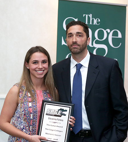 Fichera saluted as Gator of the Year for Women's Soccer Team