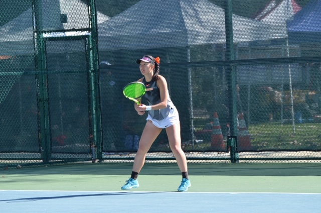 Shorthanded Women's Tennis Falls at No. 8 Sagehens