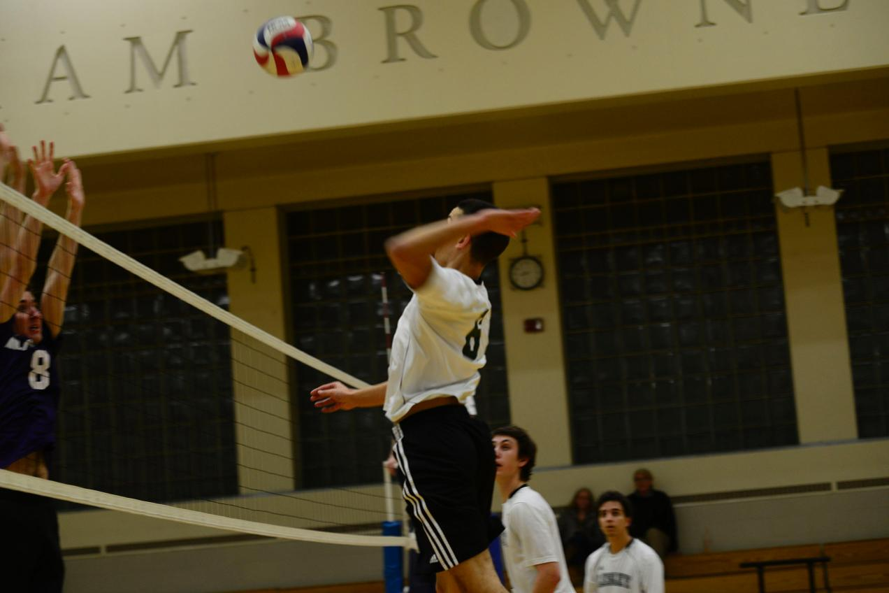 Burns, Ulacco Lead Men's Volleyball to First Win