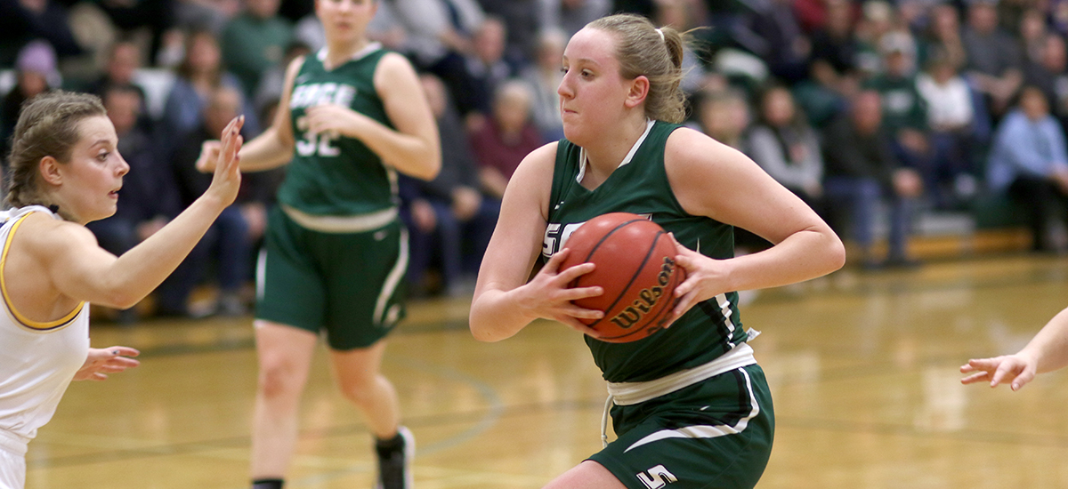 Bowman's double-double helps Sage roll past Alfred, 87-61