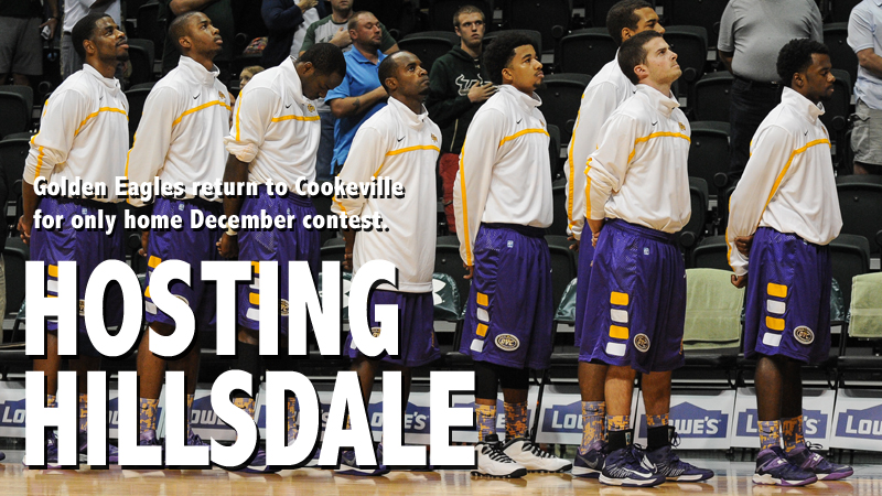 Golden Eagles return home for only home tilt of December, host Hillsdale College