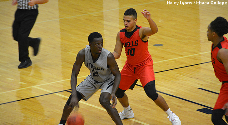 Ithaca Holds Off Wells Men's Basketball Rallies