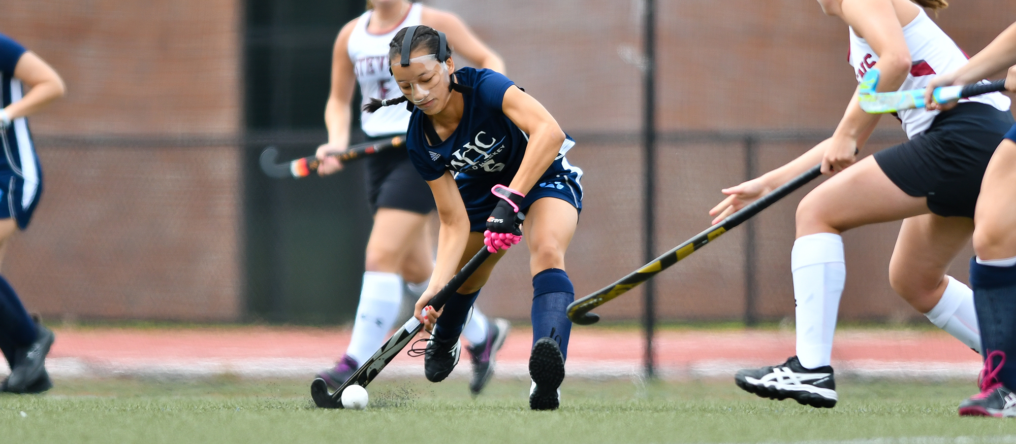 Wesleyan Slips Past Field Hockey, 5-2, in Non-Conference Play