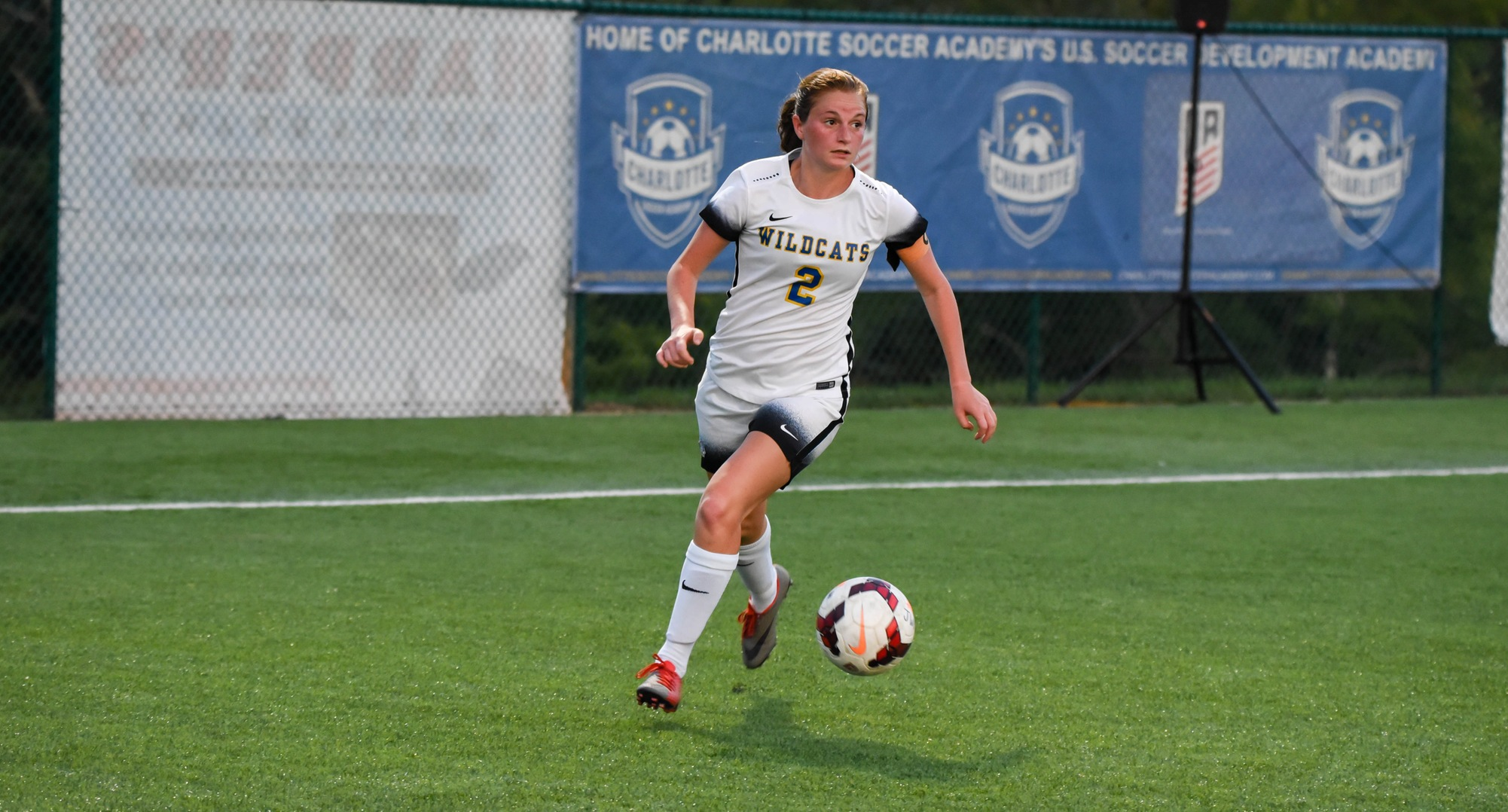 Doyle Scores Twice as Women's Soccer Fends Off Shaw