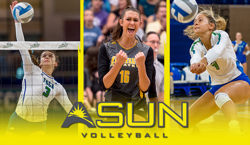 Serrano, Axner and Engelbrecht Earn Final #ASUNVB Weekly Honors