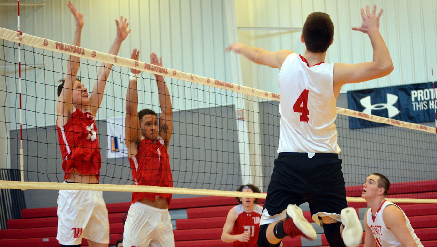 Men's volleyball team upended by Augustana in straight sets