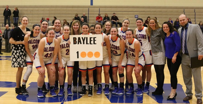 Barker scores 1,000 career points, Falcons advance to NACC Tournament semifinals