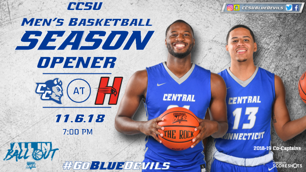 Men's Basketball Tips Off 2018-19 at Hartford on Tuesday