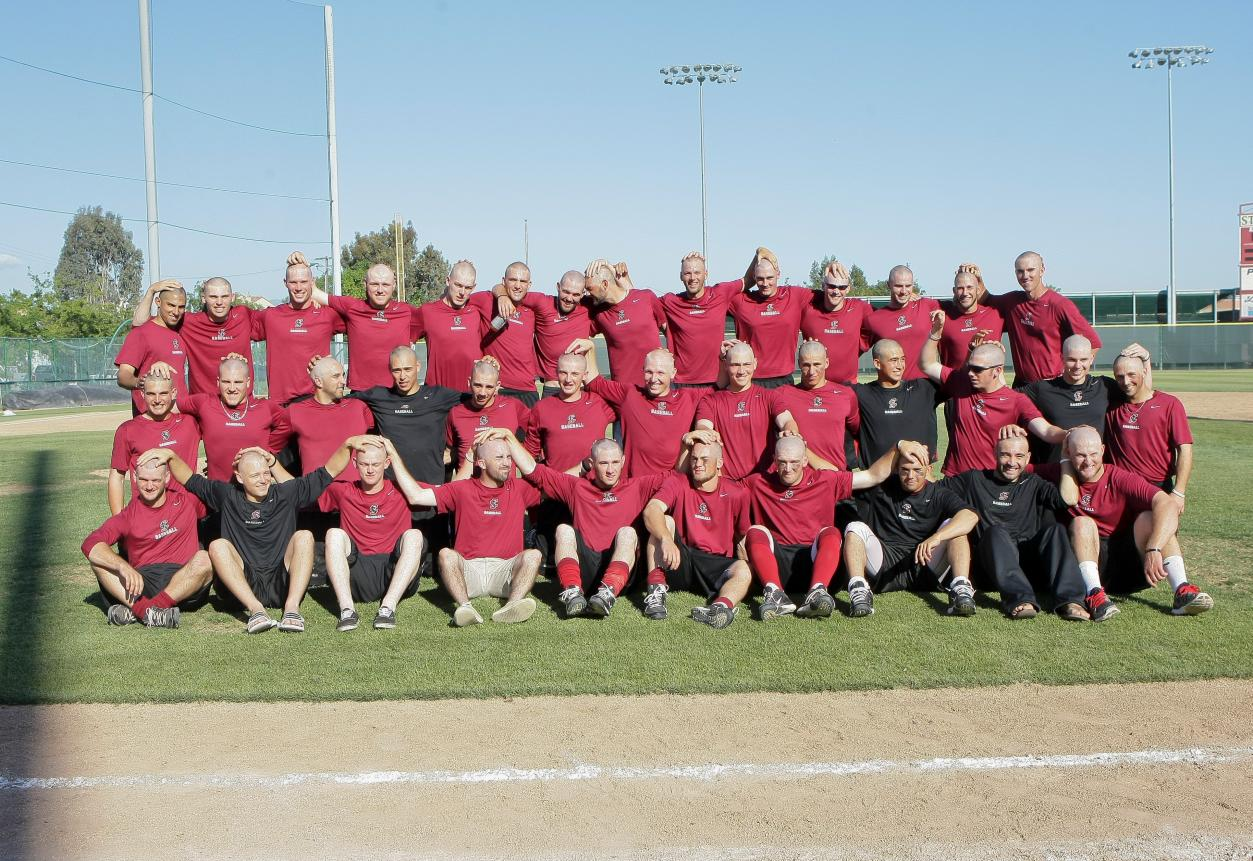 "Santa Clara Baseball Raises $9,000 for St. Baldrick's ""Base Bald"""