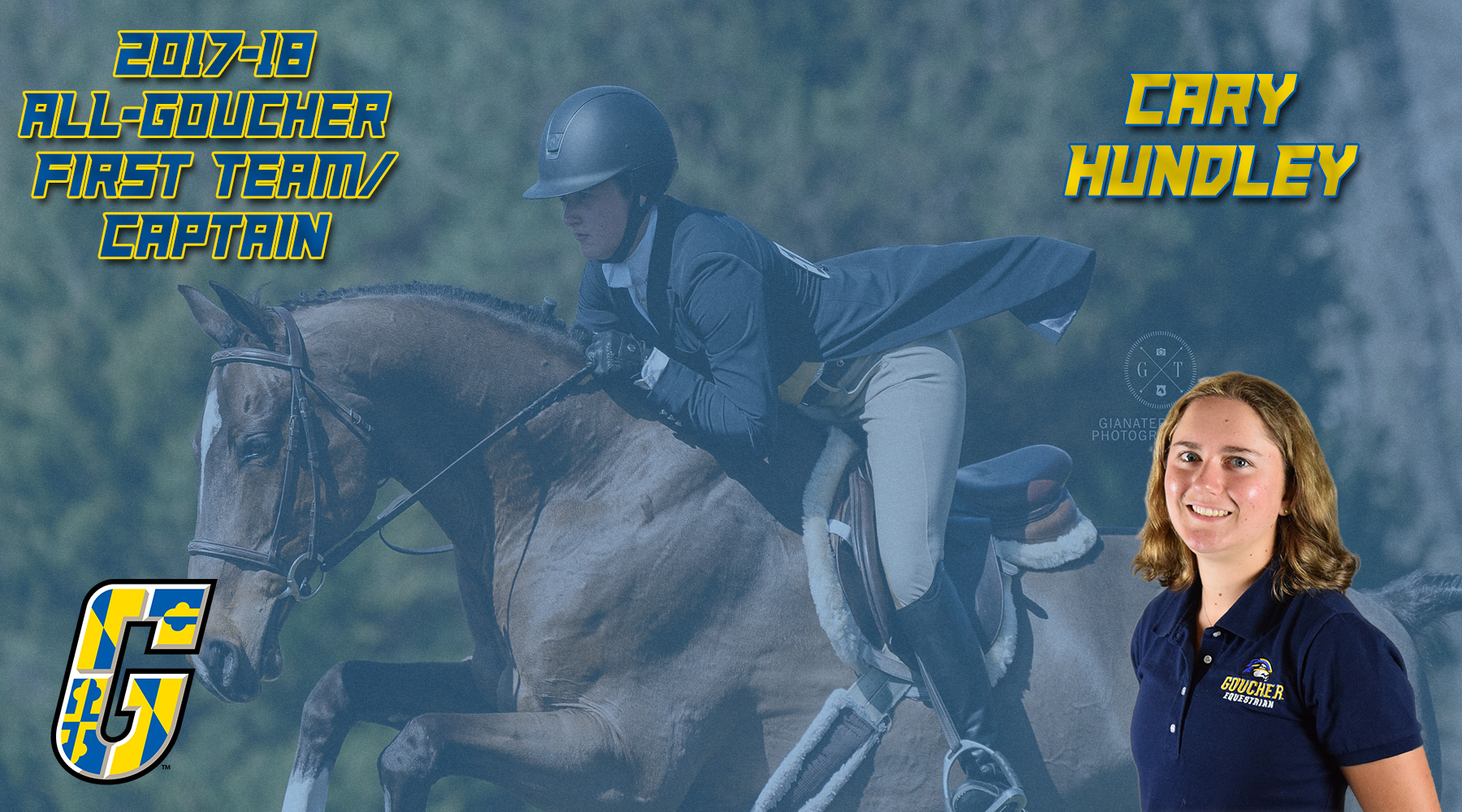 All-Goucher First Team Selection & Team Captain: Equestrian's Cary Hundley