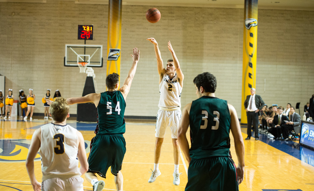Emory Men's Basketball Holds Off Covenant College