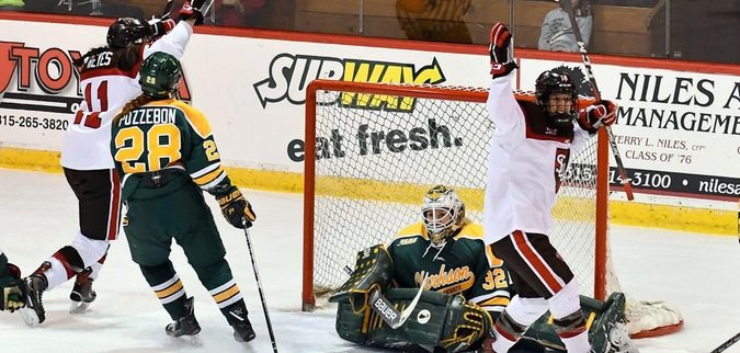 St. Lawrence knocks off top ranked Clarkson in OT