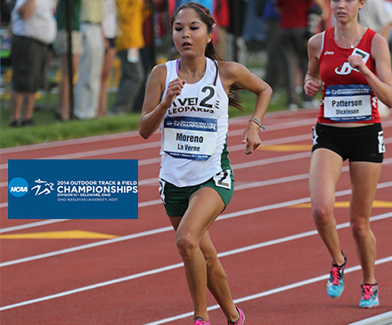Moreno Places Ninth in 5,000m