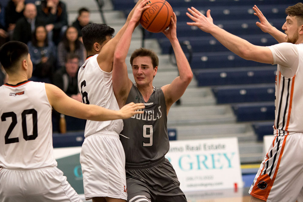 DeRappard-Yuswack, Morris clean the glass, Douglas College Royals show grace under pressure to punch CCAA Final Four tickets