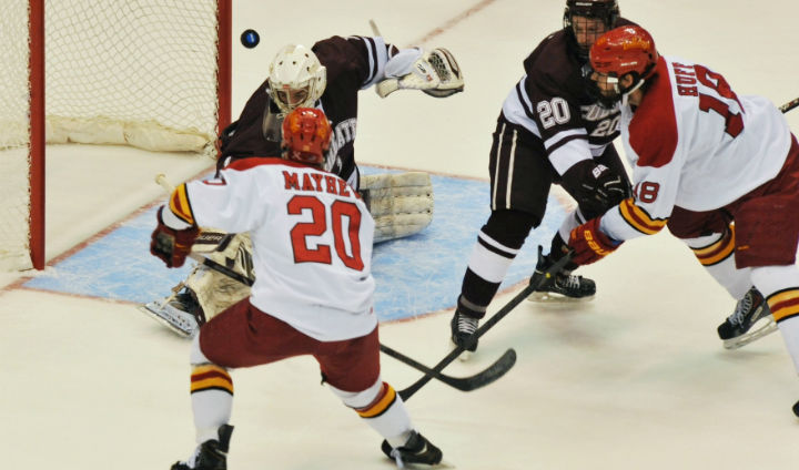 Ferris State Hockey Tops Colgate To Move Within One Win Of Frozen Four