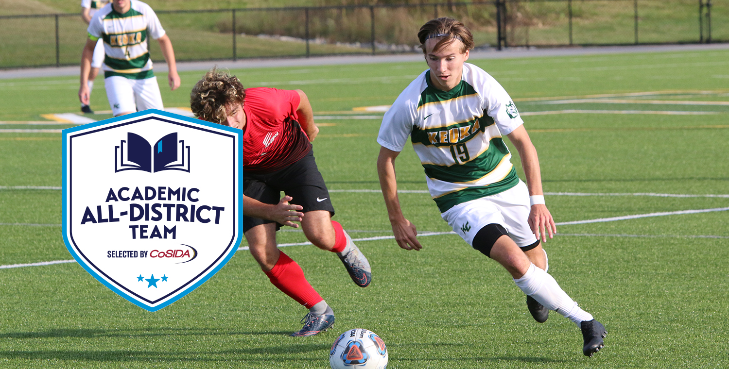 Jared Burns from the men's soccer team was selected as Academic All-District by the College Sports Information Directors of America (CoSIDA).