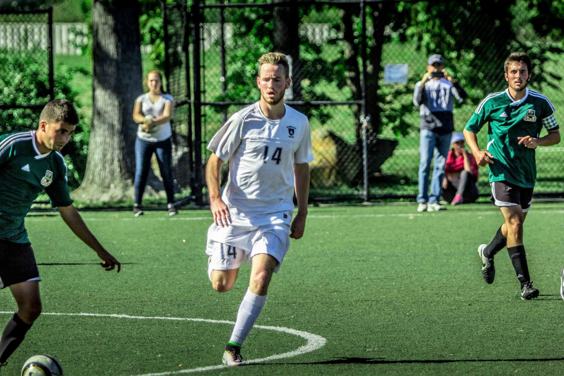 Men's Soccer Bested By Blue Angels