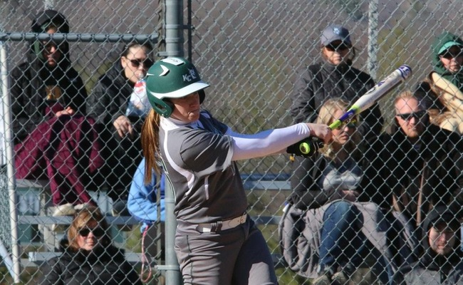 Alexa Brown (16) hit her first career home run on Saturday against SUNY Poly -- Photo by Ed Webber