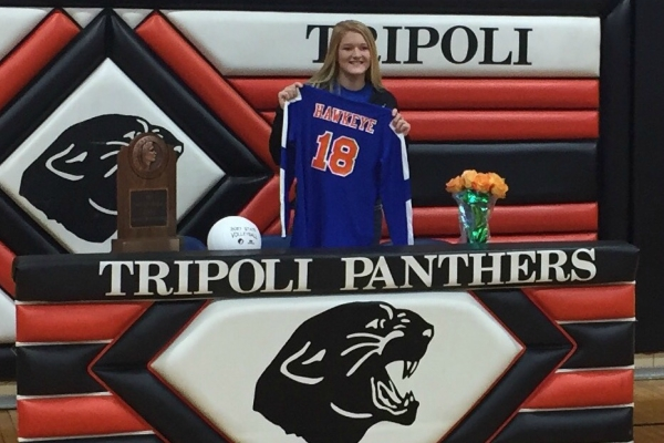 Brooke Dreesman of Tripoli High School Signs with RedTails Volleyball