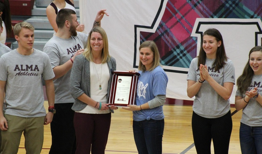 Alma Student-Athletes Log Most Community Service Hours in DIII