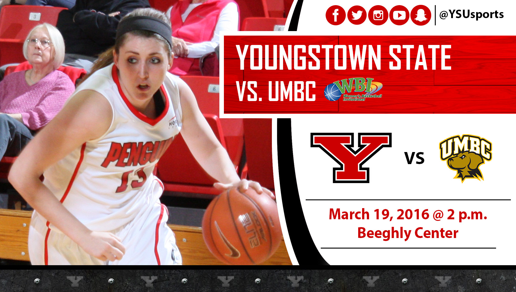 Penguins Welcome UMBC to Beeghly Center for Second Round of WBI on Saturday