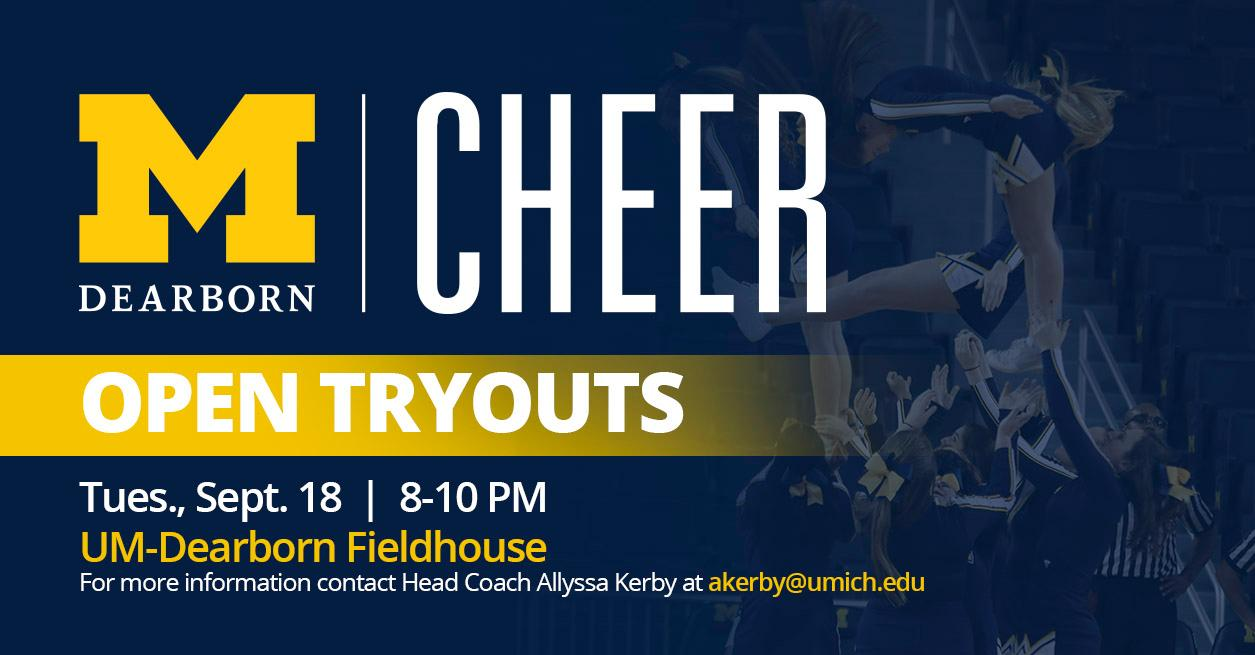 Cheer Tryouts set for Sept 18