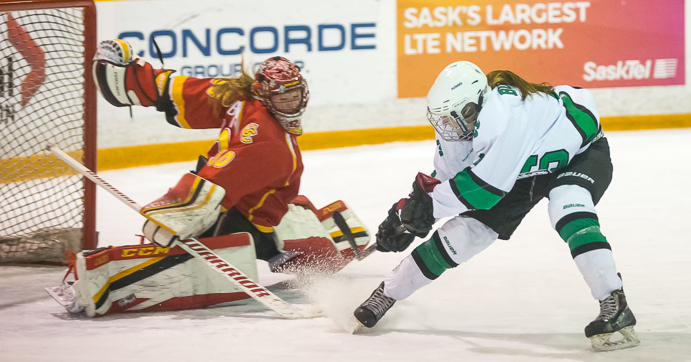 Women's hockey uses third period to seal win over Dinos