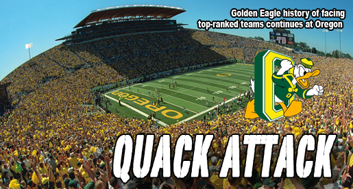 Golden Eagle football team to face Oregon Ducks in 2012 season