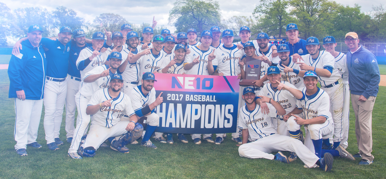 Charged Up! New Haven Wins Four Straight to Claim 2017 NE10 Baseball Championship