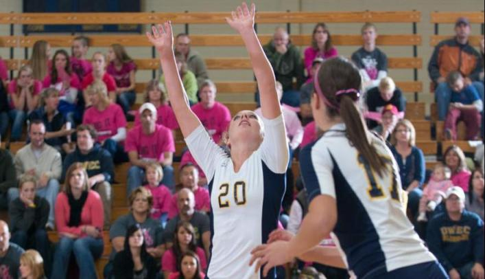 Blugold Volleyball Defeats UW-River Falls 3-1
