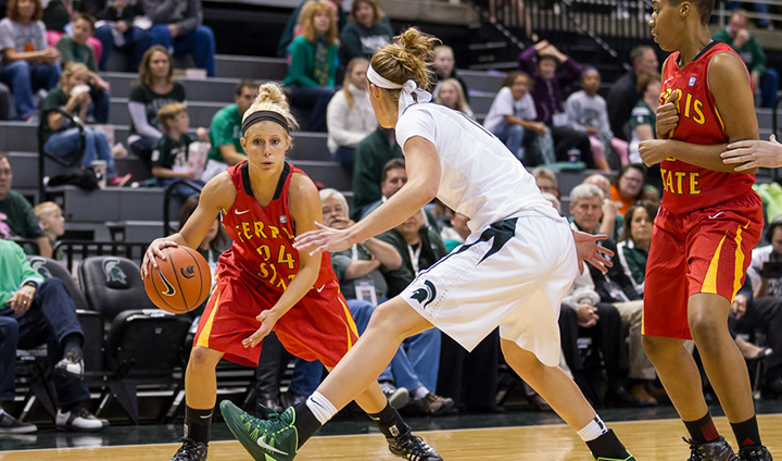 Ferris State Women's Basketball Drops Preseason Game At Nationally-Ranked Michigan State