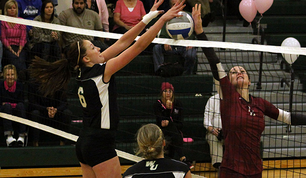 Block Party Leads Wilmington Volleyball to 3-1 CACC Victory at Chestnut Hill