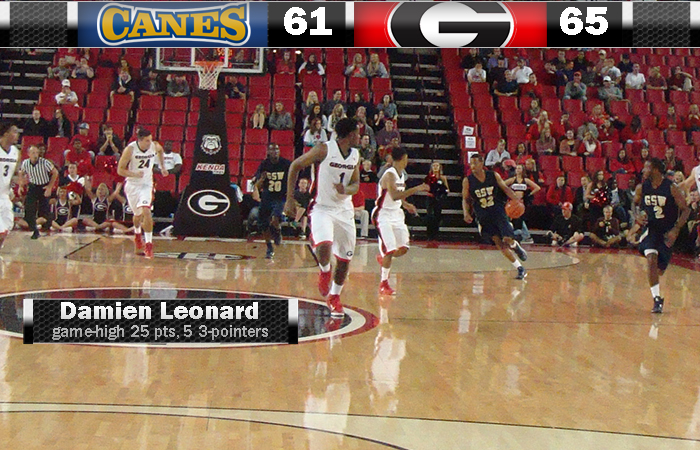 Hurricanes Push UGA, Fall Four Points Shy Of Upset