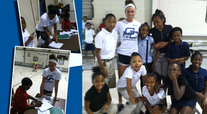 GC Women's Basketball Helps Out at Boys and Girls Club