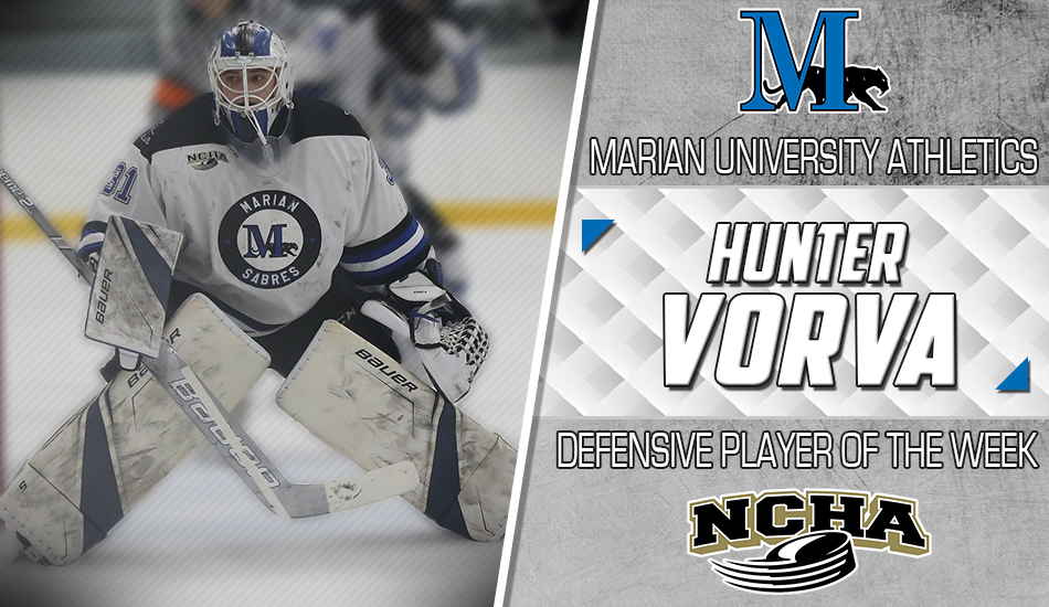 Hunter Vorva Player of the Week graphic.