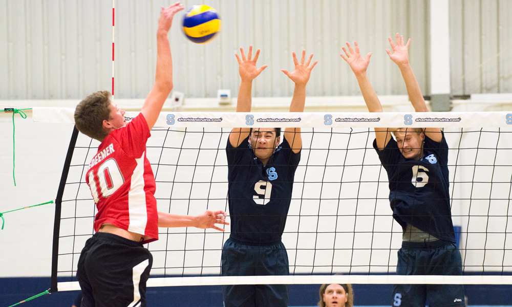 Men's volleyball fall in straight sets to Redeemer